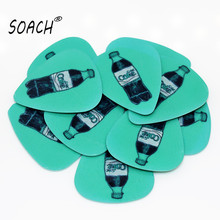 SOACH 10pcs 0.46mm guitar paddle PVC double-sided printing blue cola pattern plucked string guitar instrument accessories
