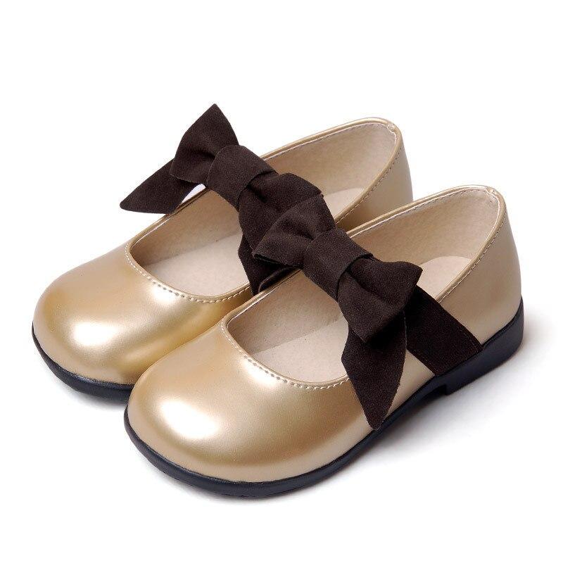 Dress Shoes Girls Party Children Pu Black Gold