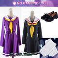 HOT Anime COS White Shiro No Game No Life Cosplay Sailor Suit Costume Student Uniform Free Shipping