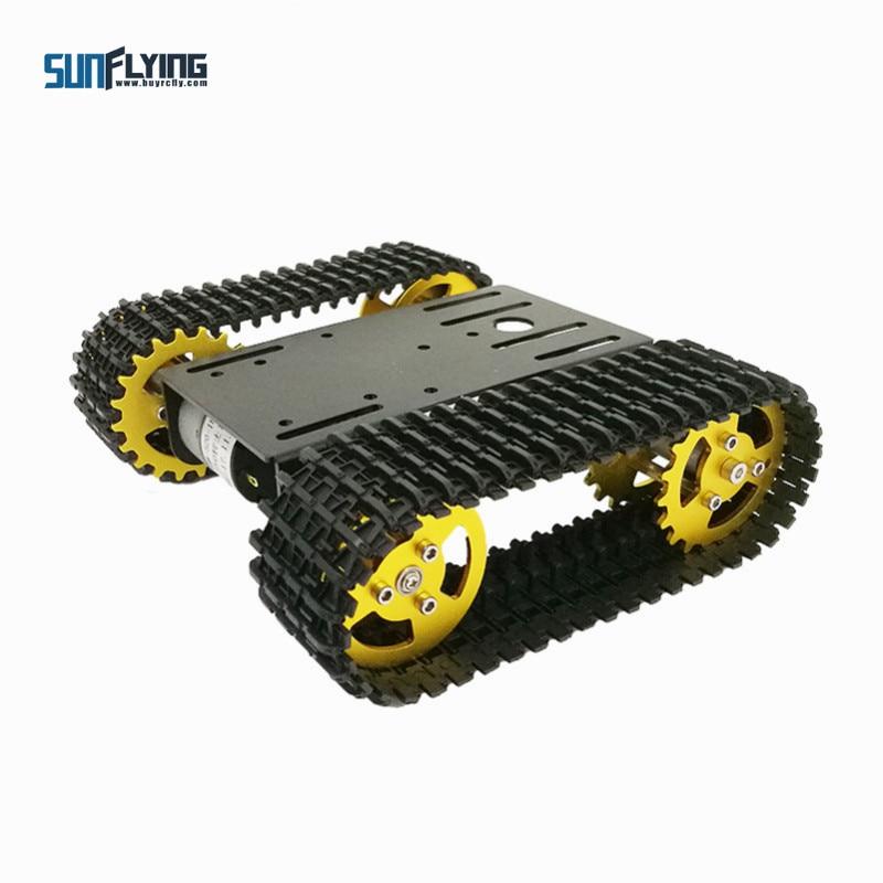Mini plate-forme de voiture à chenilles avec châssis de réservoir Robot intelligent T101 avec moteur 33GB-520 pour pièce de jouet Arduino Robot à monter soi-même