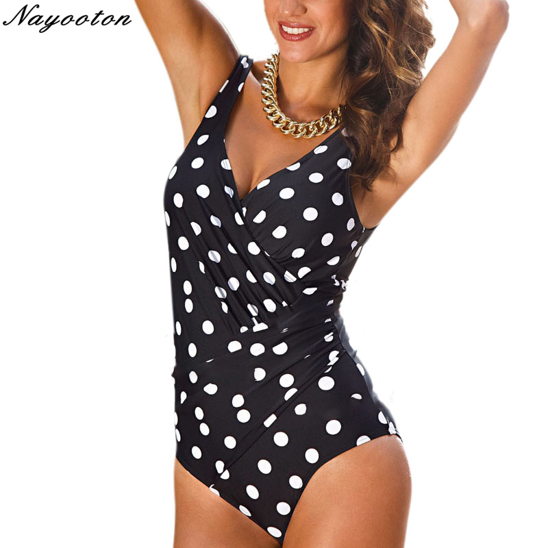 One Piece Swimsuit 2019 Women Summer Swimwear sexy Halter Top Bathing Suit Plus Size Swim Suits Push up Ruffle Solid Monokini in Body Suits from Sports Entertainment