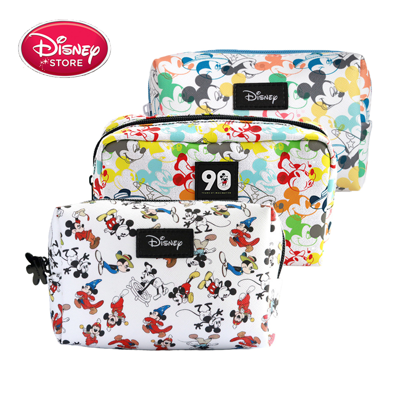 Genuine Disney Mickey Mouse Bag Girl Multi-function Bag Mummy Makeup Wash Bag Disney Purse Girls Gift