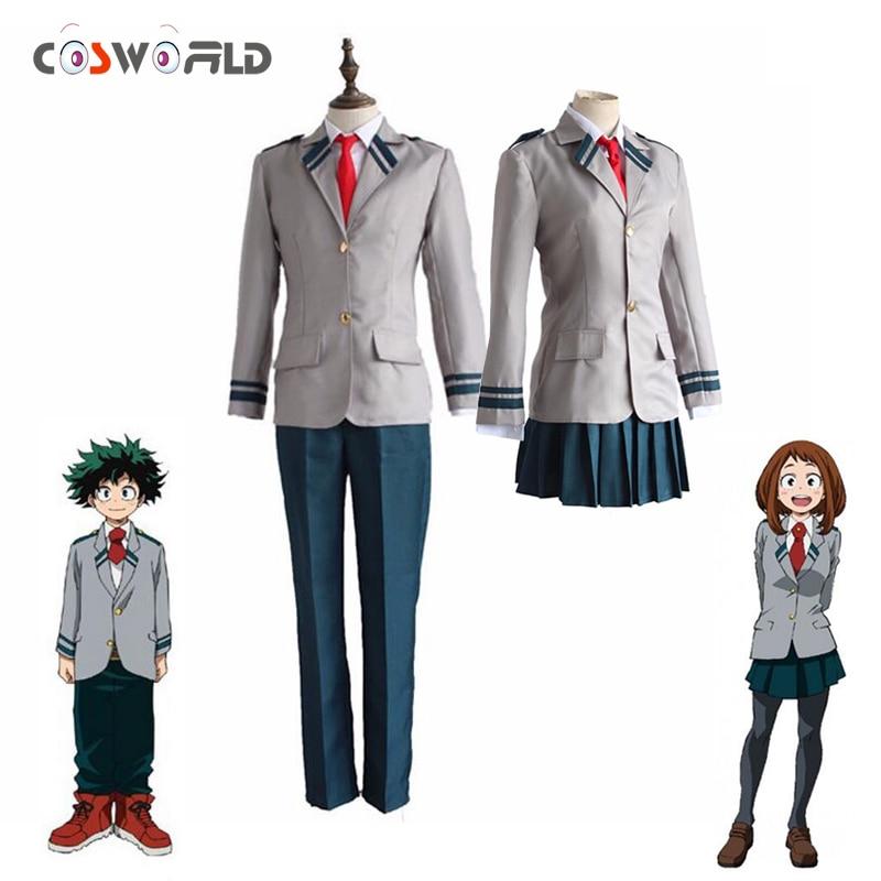 ff8d6824b0 Coshome Anime Boku No Hero Academia Cosplay Midoriya Izuku Bakugou Katsuki Cosplay  disfraces mi héroe Academia chaqueta uniformes