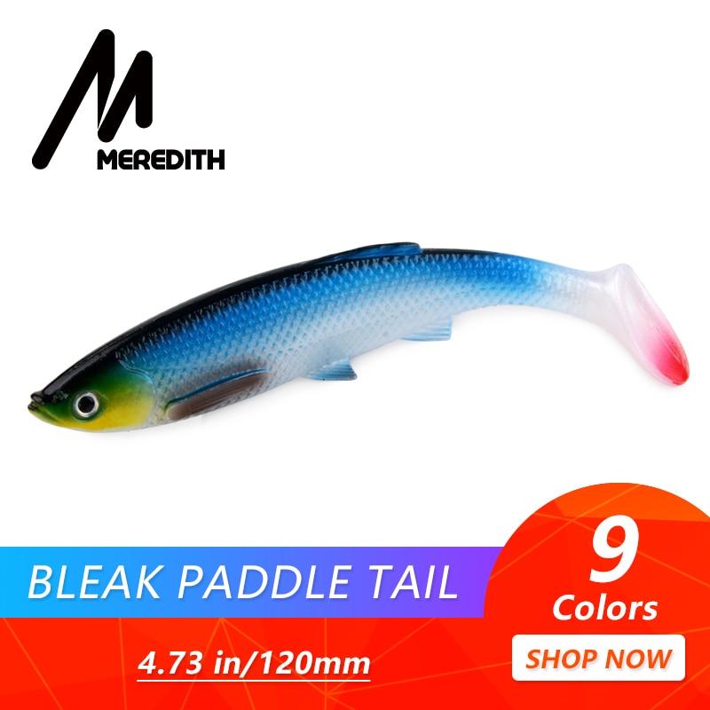 MEREDITH 12cm 14.5g 4шт 3D Bleak Paddle Хвост Мягкая - Рыбалка