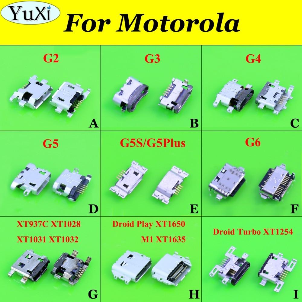 YuXi Mini Micro Usb Connector Port Jack Sockect For Motorola Moto G2 G3 G4 G5 G5S G5Plus G6 XT1031 XT1032 XT1650 XT1635 XT1254