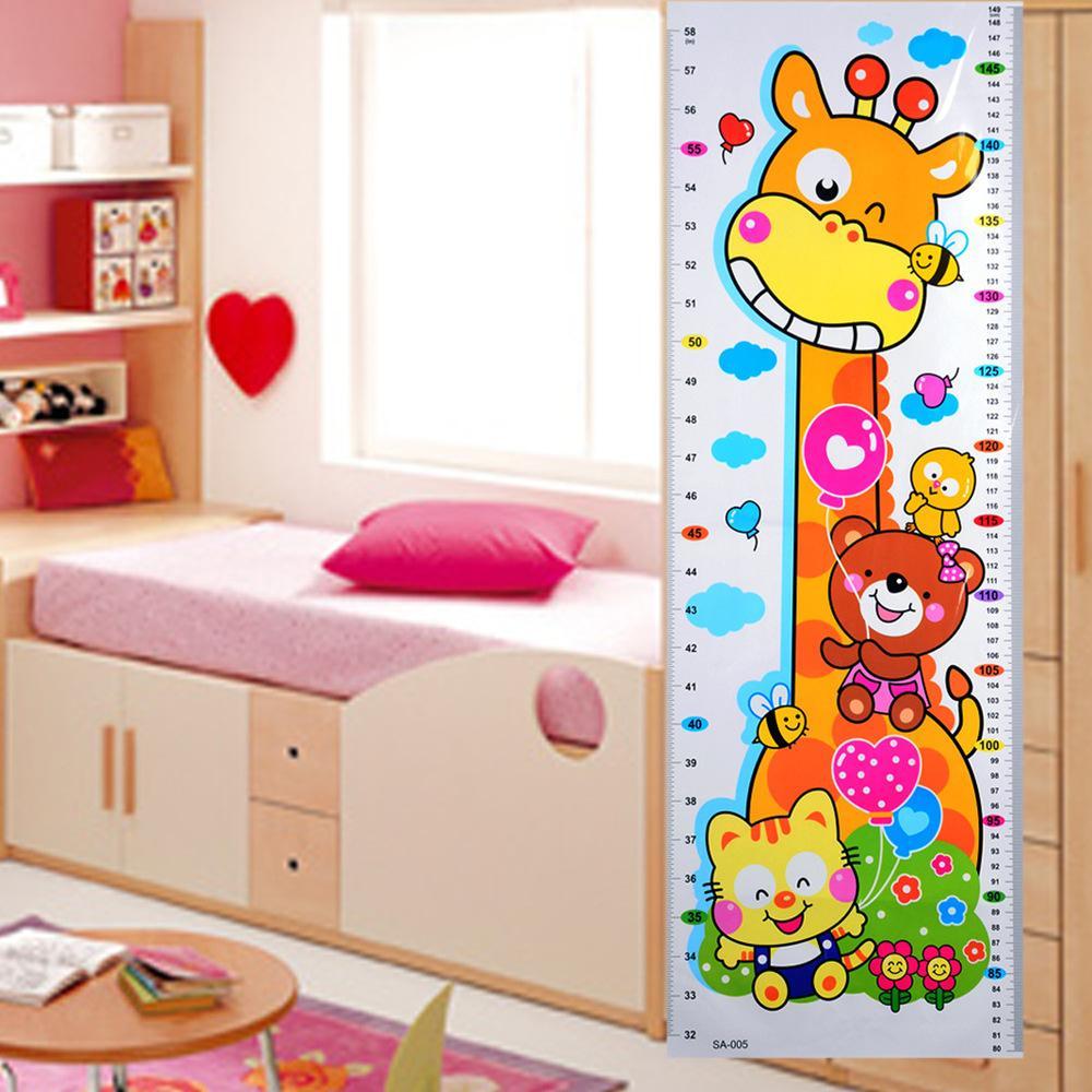 Home Decor Baby Children Height Sticker Cartoon Animal