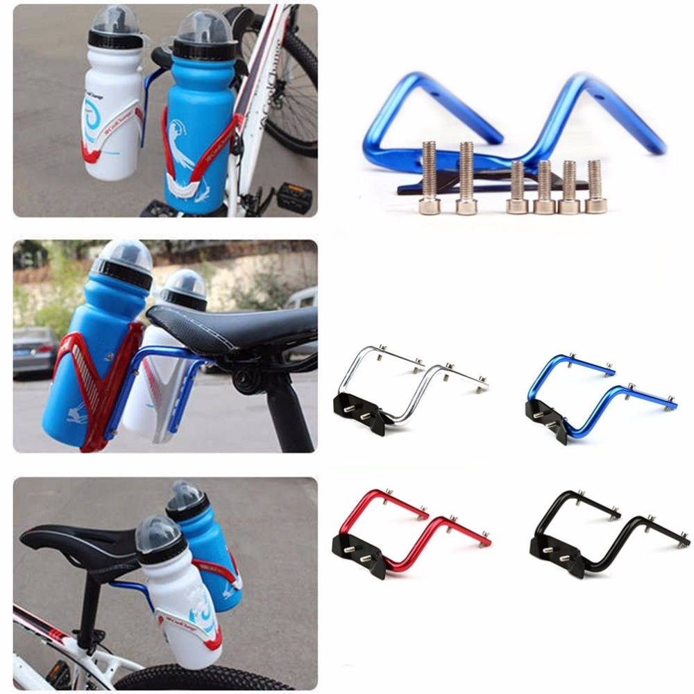 MTB Bike Water Bottle Cage Mount Bicycle Drink Bottle Holder Adapter Black
