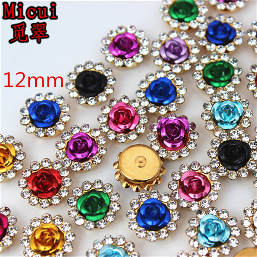 Detail Feedback Questions about Micui 30PCS Glass Rhinestone Rose ... 3a319df8fc30