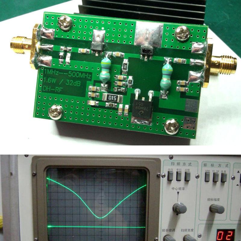 RF 1MHz - 500MHZ 1 5W Power amplifier HF FM VHF UHF FM transmitter for ham  radio +Heatsink