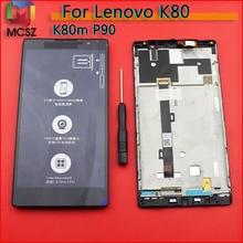 """עבור 5.5 """"Lenovo K80 K80M P90 תצוגת LCD מסך מגע Digitizer עצרת עם מסגרת לlenovo K80M החלפת תצוגת LCD"""