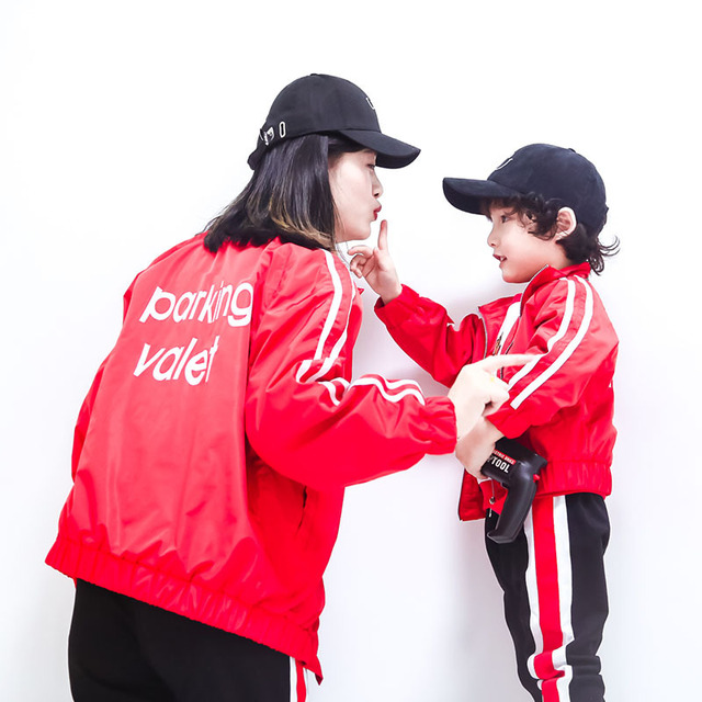Family Matching Outfits Jackets Mom Son Coats Mother and Daughter Clothes  Boys Kids Windbreaker Mum Mama Bebes Son Girls Shirts 0b4fbbc44ae