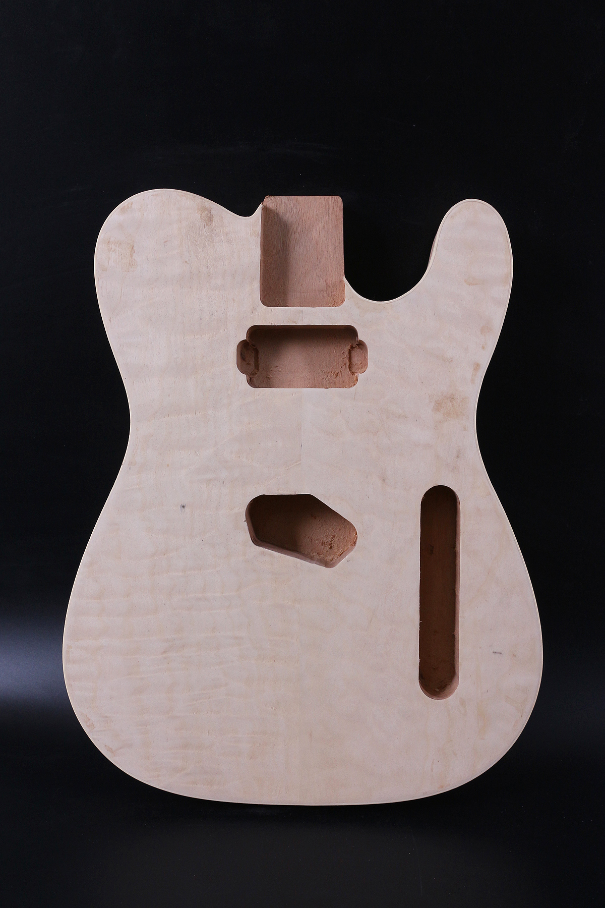 Diy <font><b>Telecaster</b></font> Style Electric <font><b>Guitar</b></font> <font><b>Body</b></font> Mahogany Unfinished maple top image