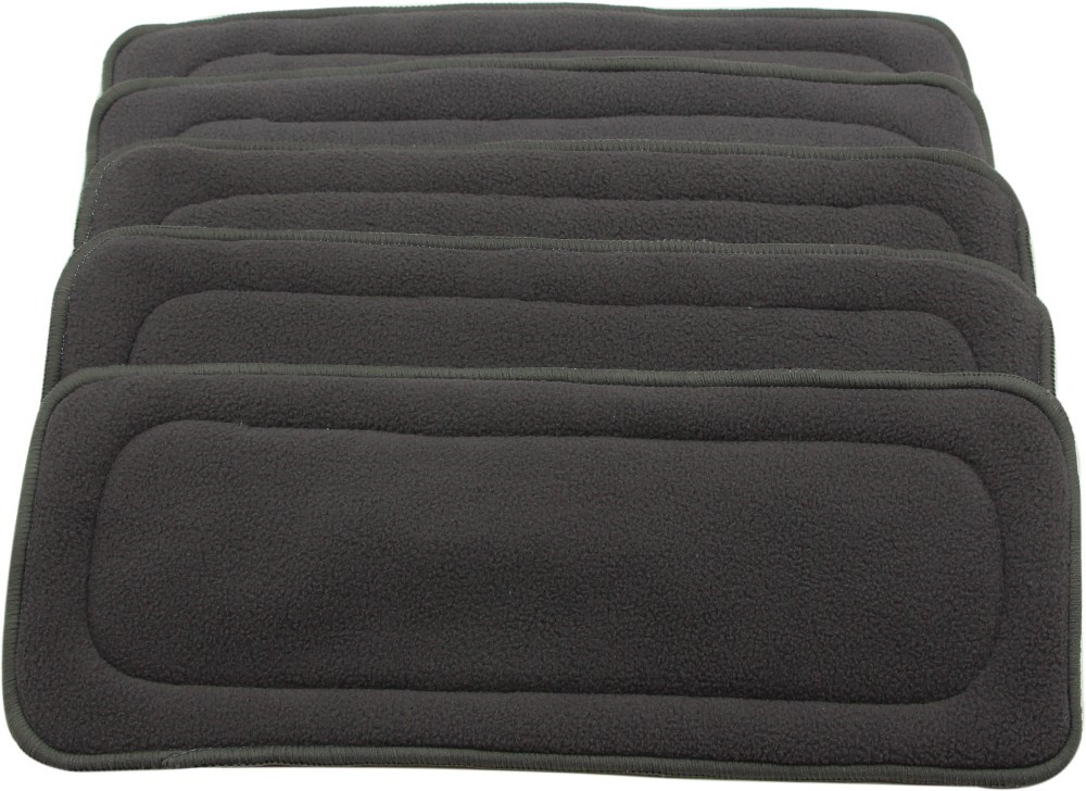 Image 4 - Ohbabyka 10pcs Cloth Diaper Inserts 4 Layers Bamboo Charcoal Pocket Diaper Inserts Liners for Baby Cloth Nappy Couches Lavables-in Baby Nappies from Mother & Kids