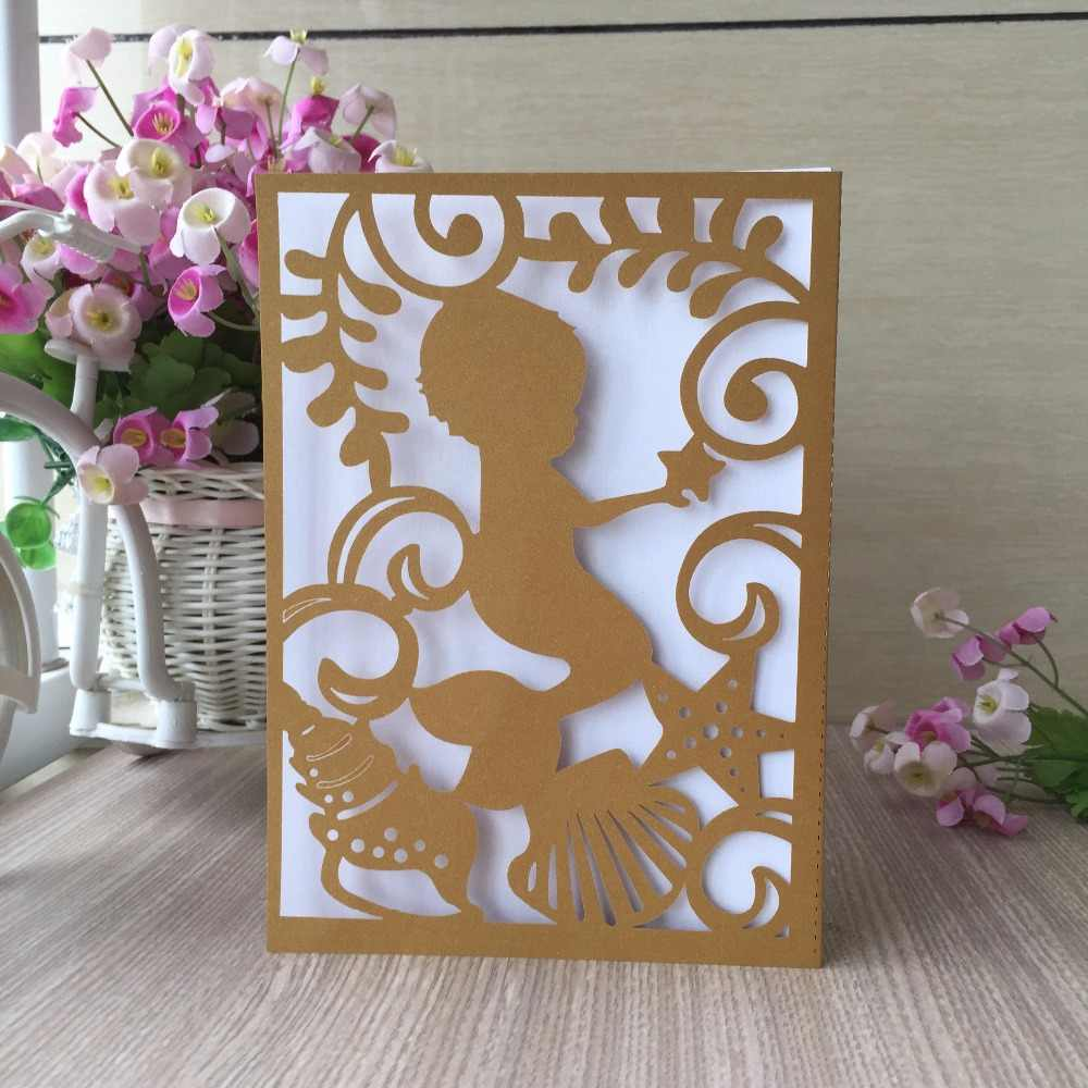 30pcs Latest Shimmer Paper Boy 1th 2th 3th 4th Birthday Party Invitation Card Blessing Greeting Wedding