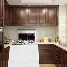 New Design Diy Remove 3D White Wallpaper Kitchen 9.3x9.3 Wall Stickers Tile Peel Sticker Decals Hd