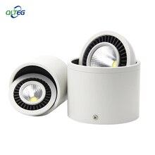 Qlteg superfície montado luzes led ponto 360 graus de rotação led downlights 5 w 7 9 15 cob downlights AC85 265V lâmpadas de teto led