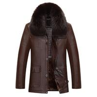 New Fashion Man Winter Fur Coat Middle aged Men's Jacket Velvet Thickening Sheepskin Jackets Men's Leather Coat