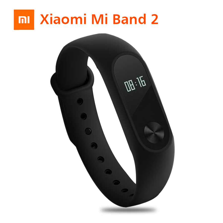 Xiao mi mi Band 2 mi band 2 Fitness Tracker Heart Rate Monitor OLED Display Touchpad Bluetooth 4,0 Für Android IOS Smart armband