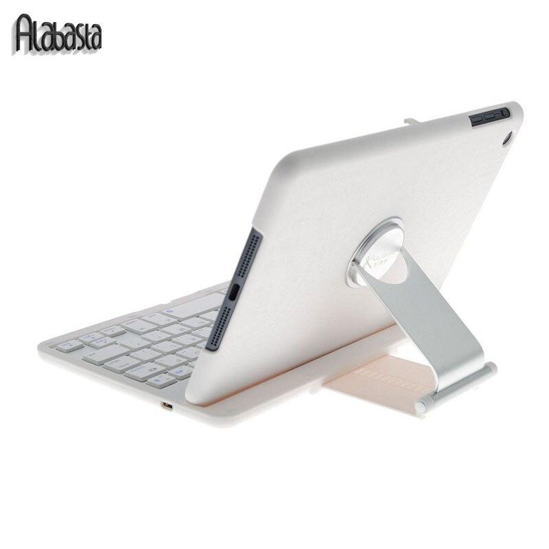 bilder für Alabasta ultradünne 360 grad schwenker drahtlose bluetooth tastatur stand case abdeckung für ipad 2 3 4 shell