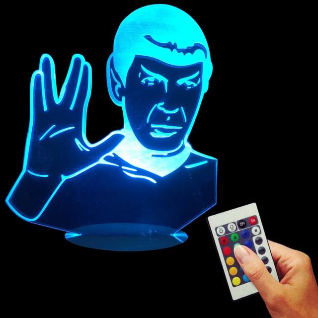 Star Trek Optical illusion LED Desk Lamp