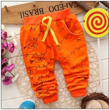 Happy Children Fish High Quality Cartoon Pant 100% Cotton Trousers 0-2 Year