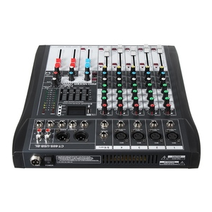 Image 2 - LEORY 6 Channel Karaoke Audio Mixer With USB 48V Phantom Power bluetooth Professional Microphone Sound Mixing Amplifier Console