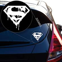 Supermans Death In Vinyl Decal Sticker(4 X 4.3, White) car stickers  funny