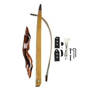 Image 4 - 25 55 ปอนด์ Recurve Bow 58 นิ้ว Longbow การล่าสัตว์อเมริกันโบว์ธนูการแข่งขันยิงอุปกรณ์การฝึกอบรม