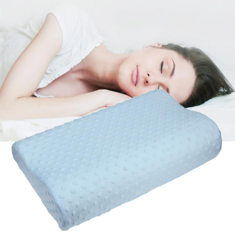 Soft <font><b>Pillow</b></font> <font><b>Cases</b></font> Slowly Rebound Memory Foam Space <font><b>Pillow</b></font> <font><b>Cases</b></font> Neck Cervical Healthcare 50 X 30 X 9cm Memory <font><b>Pillow</b></font> <font><b>Case</b></font> image