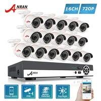 ANRAN 720P HD 16CH AHD DVR Kits 24 IR Day Night Waterproof In Outdoor 1800N Camera