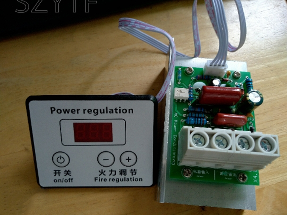 10000W thyristor super high power electronic digital regulator, dimming, speed regulation, temperature regulation