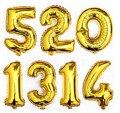 1 pcs 40 Polegada de Ouro/Prata Número 0-9 Balões Folha de Aniversário de Casamento Decorações Fontes Do Partido Do Bebê evento & Party Suppliesm