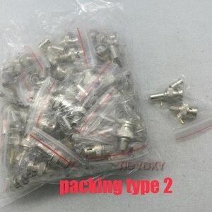 Image 3 - NOVOXY BNC erkek kıvrım fiş için RG59 koaksiyel kablo, RG59 BNC konektörü 3 piece sıkma konnektör fişleri RG59