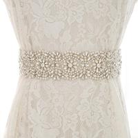 Pearls Bridal Dresses Sash Rhinestones Wedding Belt Silver Crystal Bridal Belt For Bridal Bridesmaid Dresses S202S