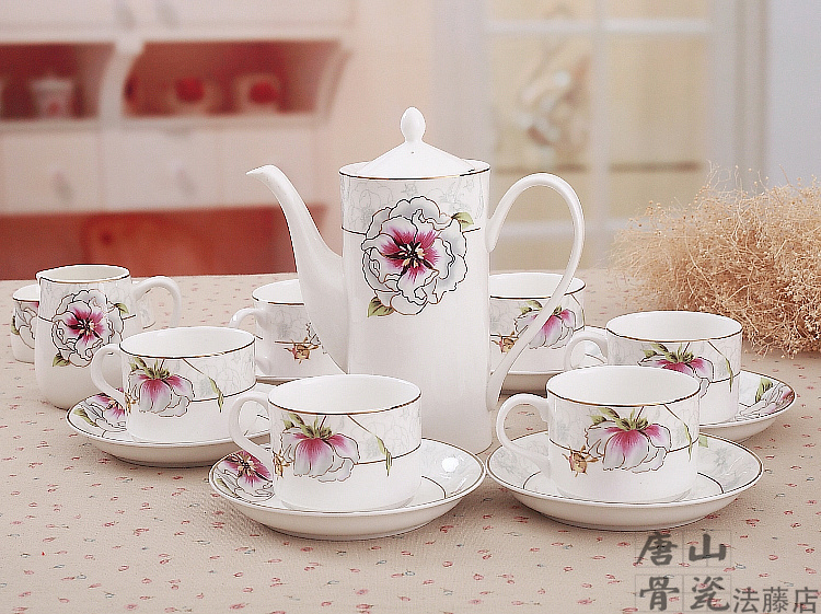 Gilded Banding Fl Painting Beautiful Bone China Tea Cup And Saucer English Set 21 Piece Ceramic Coffee In Sets From Home
