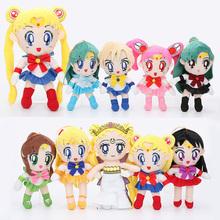 20-30 cm Sailor Moon zabawki pluszowe królowa Serenity Sailor Chinbi księżyc wenus jowisz merkury uran pluton Mars nadziewane pluszowa zabawka dla dzieci tanie tanio Film i telewizja Miękkie i pluszowe Unisex 12-15 lat 8-11 lat 5-7 lat Dorośli COTTON MicroPlush Pp bawełna
