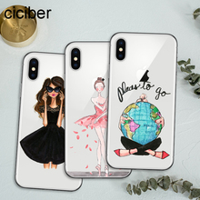 ciciber Fashion Classy Shopping Travel Girl Soft TPU Phone Cases Cover For iPhone 11 Pro Max X XS XR 7 6 8 6s Plus Funda