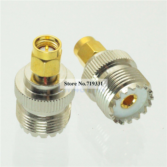 3pcs Adapter SO239 UHF female jack to SMA plug male RF connector straight 1pc adapter n plug male nickel plating to sma female gold plating jack rf connector straight