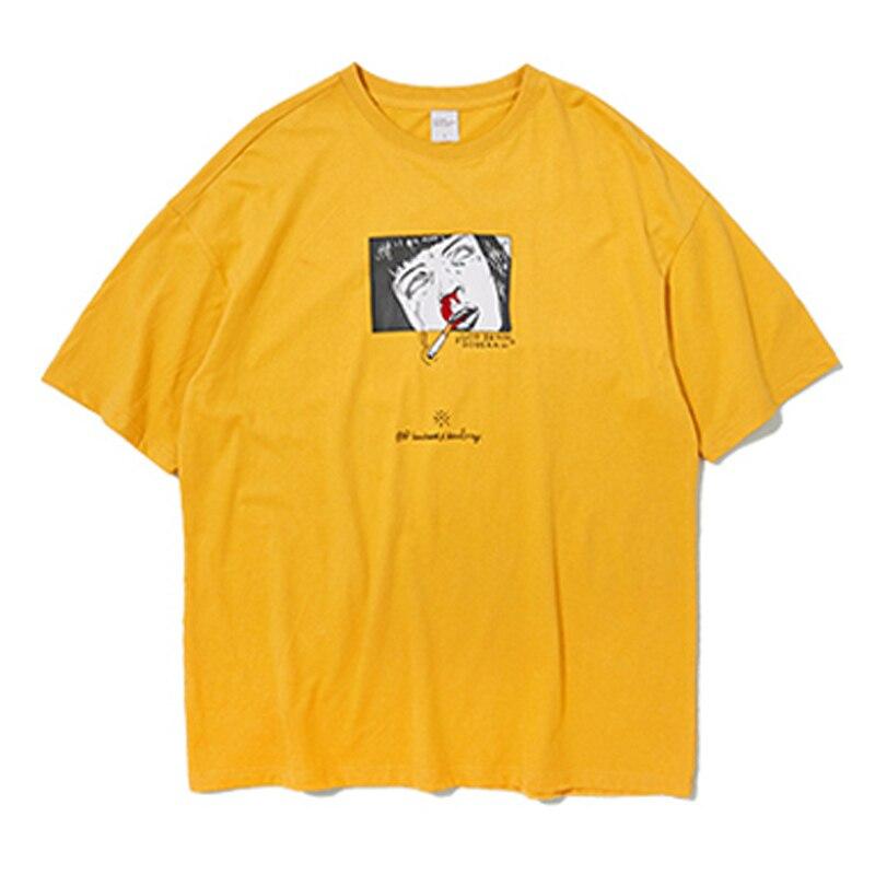 HFNF Harajuku Loose T-shirt  Short-Sleeved Males/Females T Shirt Cotton Mens/Womens T-Shirt Casual Tee Shirts