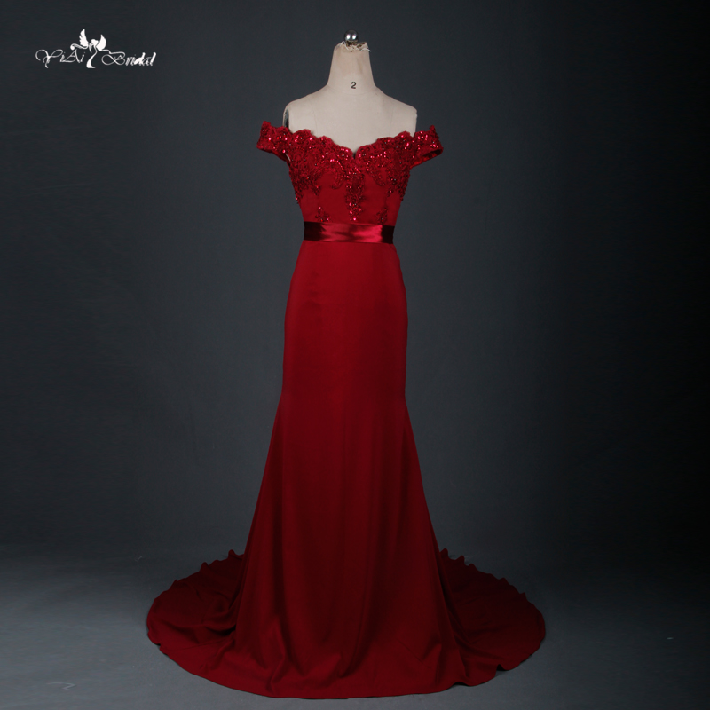 Vestido De Festa 2015 Red Long Cheap Bridesmaid Dresses Sweetheart Off The Shoulder Chiffon Wedding Party Dress RE035