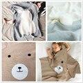 Cobertor do bebê recém-nascido Malhas Coelho Urso Criança Swaddle Cobertores Crianças Tampas de Cama bebes Couverture adereços fotografia de recém-nascidos
