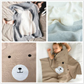 Newborn baby Blanket Knits Toddler Swaddle Bear Rabbit Blankets Kids Bedding Covers bebes Couverture newborn photography props