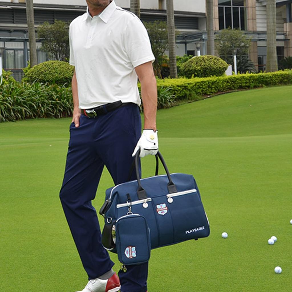 Nylon Waterproof Golf Clothing Wrap Bag With Shoes Pocket Golf Duffle Bag Collection Travel Luggage Organizer With Mini Handbag