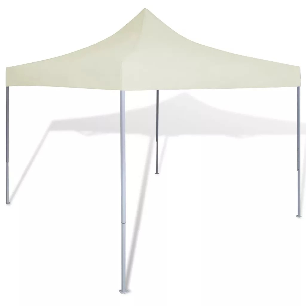 VidaXL Foldable Tent CREAM 3 X 3 M Waterproof Party Tent Suitable For Shows, Weddings, Parties, Barbecues, Festivals