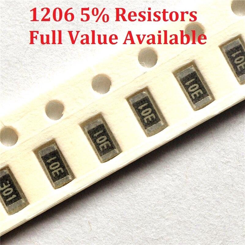 Резистор с чипом SMD 1206, 300 шт., 2.4R/2.7R/3R/3.3R/3.6R, 5% сопротивление 2,4/2,7/3/3.3/3.6 Ом, резисторы 2R4 2R7 3R3 k, бесплатная доставка