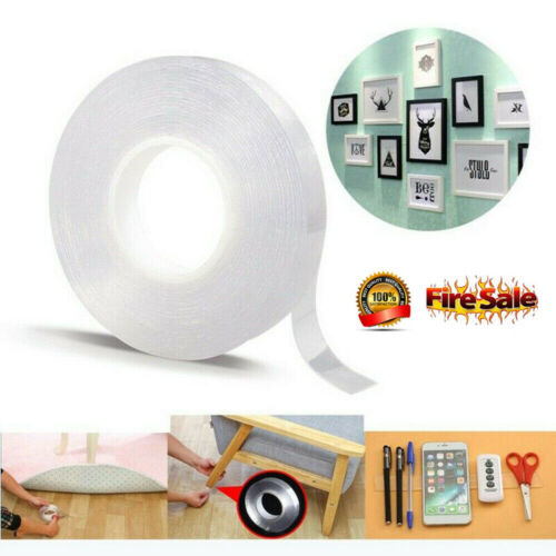 Double-sided  Gel Grip Tape Sticker Traceless Washable Adhesive Tape Nano Technology Reuse Removable Tapes Indoor Outdoor