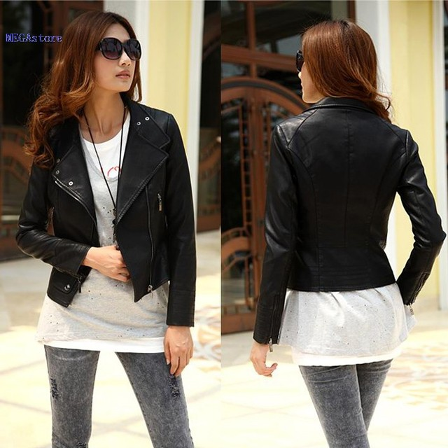 7308d942f36d Women s Girls Cool Stylish Jacket Zip Up Synthetic Leather Biker ...