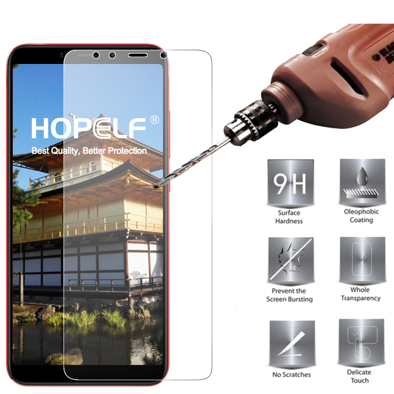 HOPELF Tempered Glass for Xiaomi Mi A2 Lite 6X Screen Protector 2.5D Phone Protective Safety Glass for Xiaomi Mi A2 Lite GlassPhone Screen Protectors   -