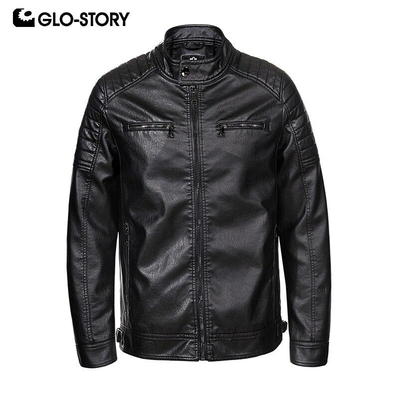 GLO STORY Versendet Von Europäischen Männer der 2019 Klassische Faux Leder Dicken Jacken Mode Motor Biker Winter Für Männer 7830-in Kunstpelzmäntel aus Herrenbekleidung bei  Gruppe 1