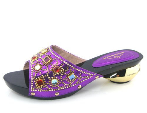 Pretty design African Sandals sexy Lady Shoes with purple aa3a729dd